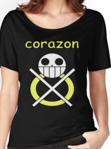 One Piece Corazon Trafalgar law Logo Anime Cosplay Japan T Shirt  Women's Relaxed Fit T-Shirt