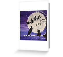 The Witch's Sleigh Greeting Card