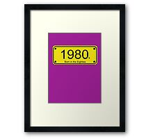 Born in the 80's T-shirt Framed Print