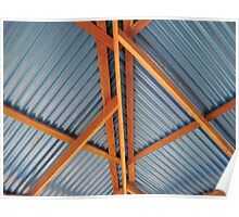 Roof Truss & Corrugated Iron Poster