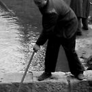 weeding the pond by geof