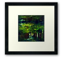 """Forest One"" - abstract oil painting impression of trees    Framed Print"