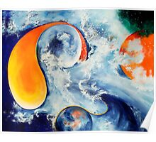 """Birth of a New Moon"" - abstract expressionistic oil painting Poster"
