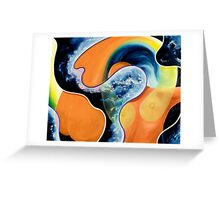 """Evolution"" - abstract expressionistic oil painting Greeting Card"