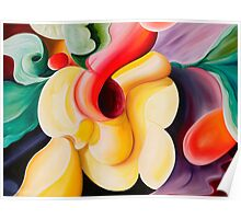 """Egg Salad"" - colourful abstract impressionistic oil painting Poster"