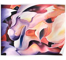 """Flowerpower"" - abstract expressionistic oil painting Poster"