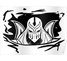 Shadow of Zed (B&W) Poster