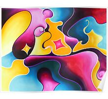 """The Purple Prince"" - abstract expressionistic oil painting Poster"