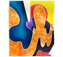 """Sun Sand and Sea"" - colorful abstract expressionistic oil painting Poster"