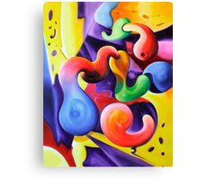 """""""Conceptions"""" - colorful abstract expressionistic oil painting Canvas Print"""