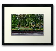 Rugby world cup flowers Framed Print