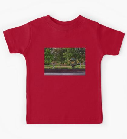 Rugby world cup flowers Kids Tee