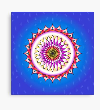 The Beautiful Lotus Flower Canvas Print