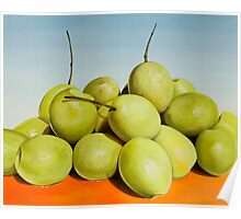 """""""Frutos de Alhaurin"""" - large oil painting of olives Poster"""