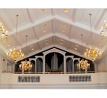 Pipe Organ Of Broadus Chapel Photographic Print