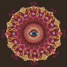 Cosmic Eye Mandala Tshirt by Thaneeya McArdle