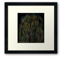 The beauty of the weeping willow Framed Print