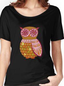 Retro Owl Shirt Women's Relaxed Fit T-Shirt