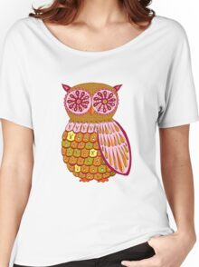 Retro Owl Shirt Women's Relaxed Fit T-Shirt