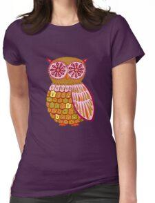 Retro Owl Shirt Womens Fitted T-Shirt
