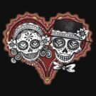 Sugar Skulls Couple Tshirt by Thaneeya McArdle