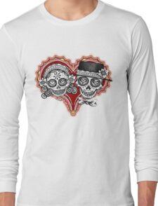 Sugar Skulls Couple Tshirt Long Sleeve T-Shirt