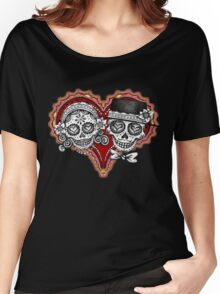 Sugar Skulls Couple Tshirt Women's Relaxed Fit T-Shirt