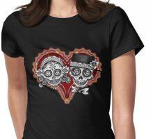 Sugar Skulls Couple Tshirt Womens Fitted T-Shirt