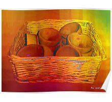 Bowls in Basket Moderne Poster