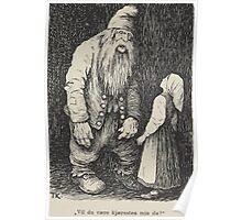 Theodor Kittelsen Hona tripper i Berget Barn Eventyr1915p022 Poster