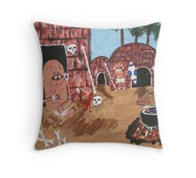 Pygmy lunch Throw Pillow