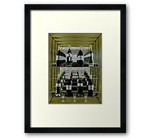 A rack of wine. Framed Print