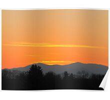 Orange Sunset in The Smokies Poster