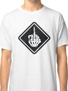 FUNNY SKULL middle finger Classic T-Shirt