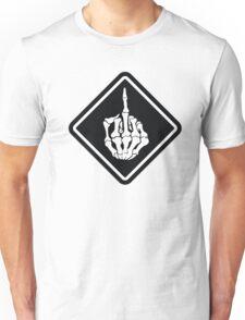 FUNNY SKULL middle finger Unisex T-Shirt