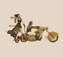 Steam Punk T-shirt - Bonnie and Clyde by Pete Katsiaounis