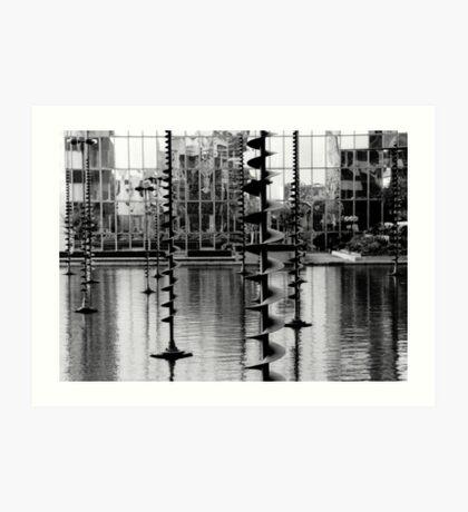 Pond sculptures. La Défense ,Paris  Art Print