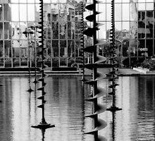 Pond sculptures. La Défense ,Paris  by LynnEngland