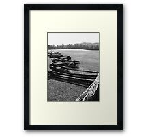 Split Rail Fence and Cade's Cove, Tennessee Framed Print