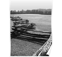 Split Rail Fence and Cade's Cove, Tennessee Poster