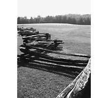 Split Rail Fence and Cade's Cove, Tennessee Photographic Print