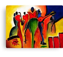 Abstract crowd: Oil Painting Canvas Print