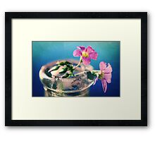 Because she loves me... Framed Print