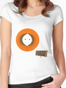 Invisible Kenny form South Park Women's Fitted Scoop T-Shirt