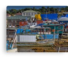 House Boat City Canvas Print