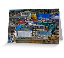 House Boat City Greeting Card