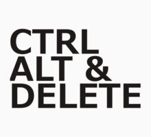 CTRL ALT DELETE Kids Clothes