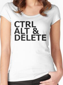 CTRL ALT DELETE Women's Fitted Scoop T-Shirt