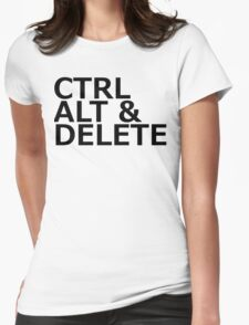 CTRL ALT DELETE Womens Fitted T-Shirt