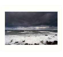 High Winds, North Sea Art Print